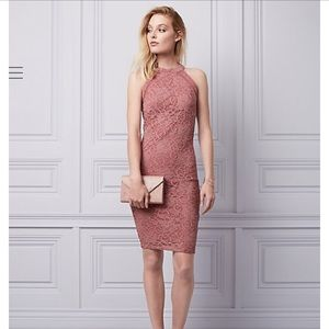 BNWT Le Chateau Pink Halter Cocktail Dress XS